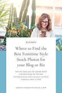 Femenine Styled Stock Sites Pin 3