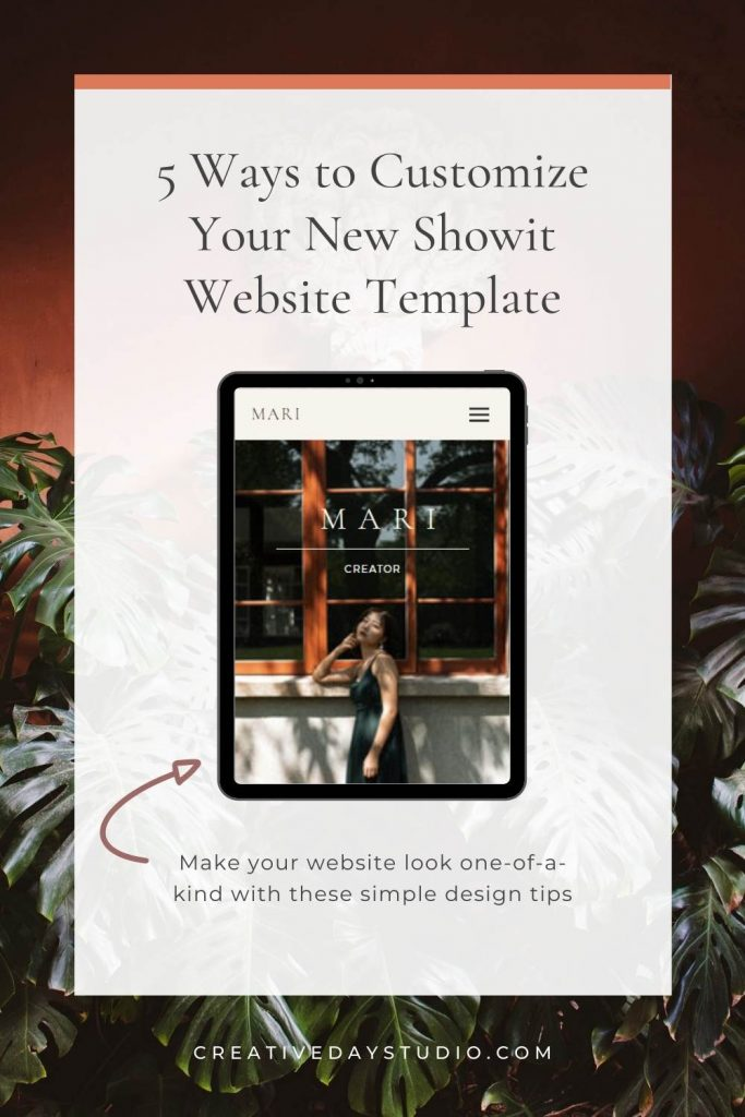 How to Customize Your Showit Template Creative Day