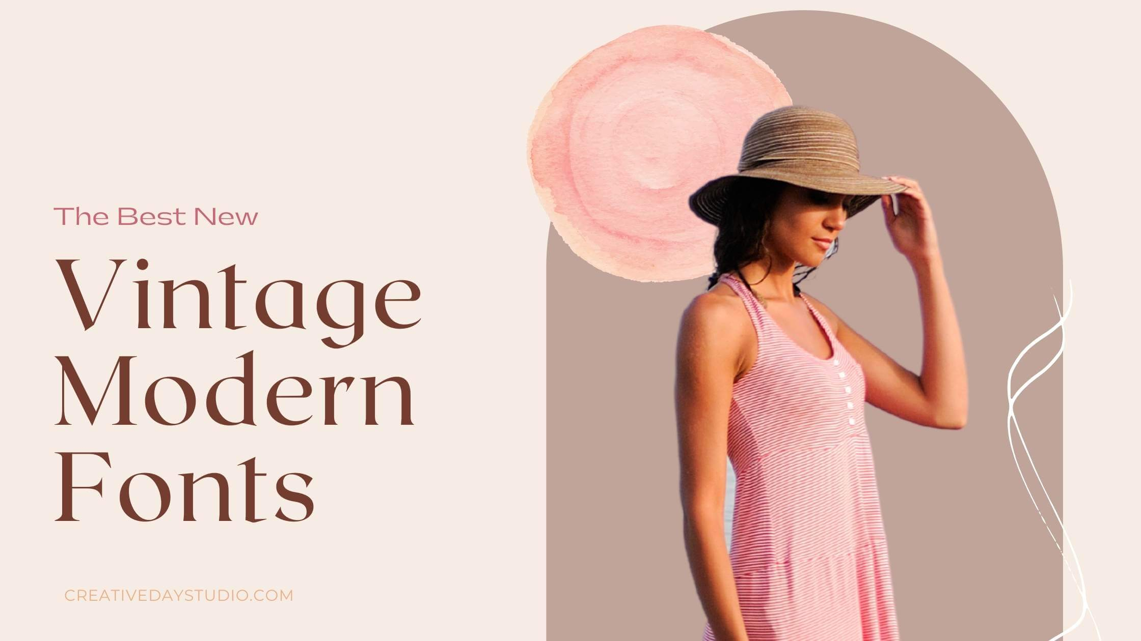 Best New Vintage Modern Fonts Blog Cover Image Presentation 2