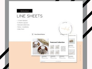 Minimal Line Sheet Template Cover